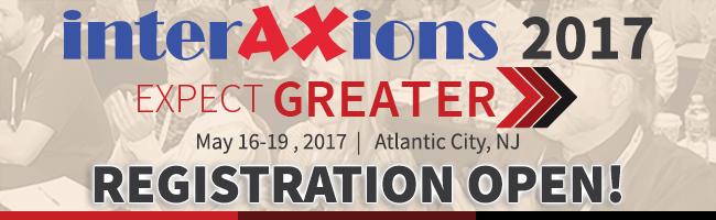 Interaxions 2017 Registration Open