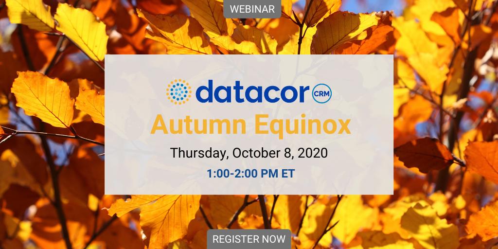 Webinar: Datacor CRM Autumn Equinox