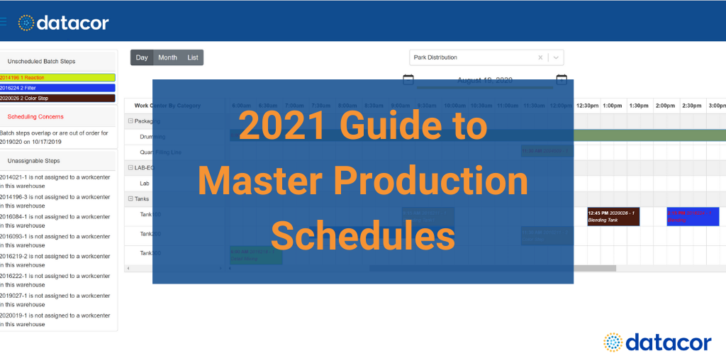 2021 Guide to Master Production Schedules