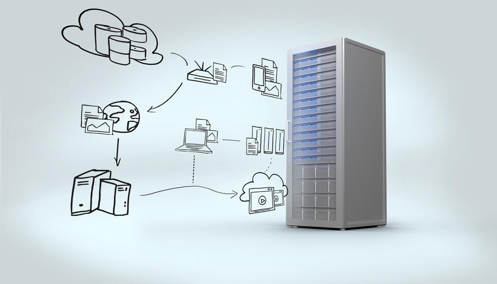 Cloud computing doodle against digitally generated grey server tower.jpeg