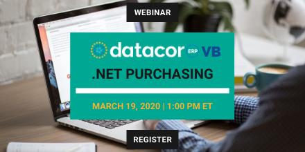 Webinar: .NET Purchasing