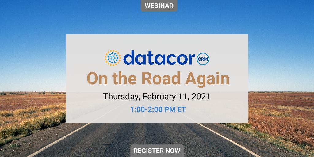 Webinar: Datacor CRM On the Road Again